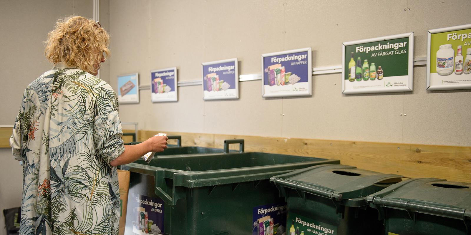 inne i återvinningsrummet
